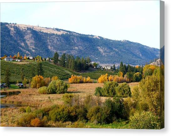 Oyama Canvas Print - Lake Country Landscape by Will Borden