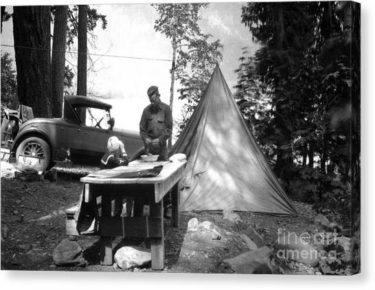 Lake Crescent Camp Site Canvas Print