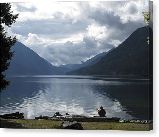 Lake Crescent Canvas Print by Jill Bell