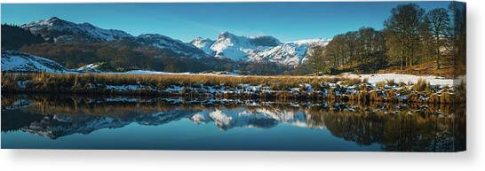 Lake District Snowy Winter Mountain Canvas Print by Fotovoyager