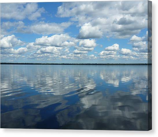Great Dismal Canvas Print - Lake Full Of Clouds by Two Bridges North