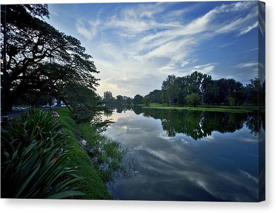 Lake Garden Canvas Print by Chin Wei Jeffrey Ong