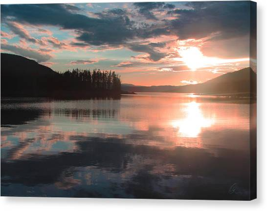 Lake Granby Sunset Canvas Print