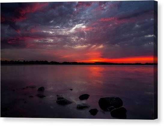 Lake Sunsets Canvas Print - Lake Herman Sunset by Aaron J Groen