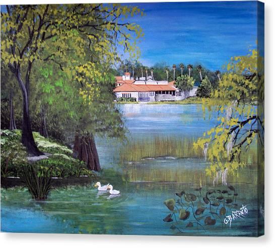 Lake Hollingsworth Landscape Canvas Print