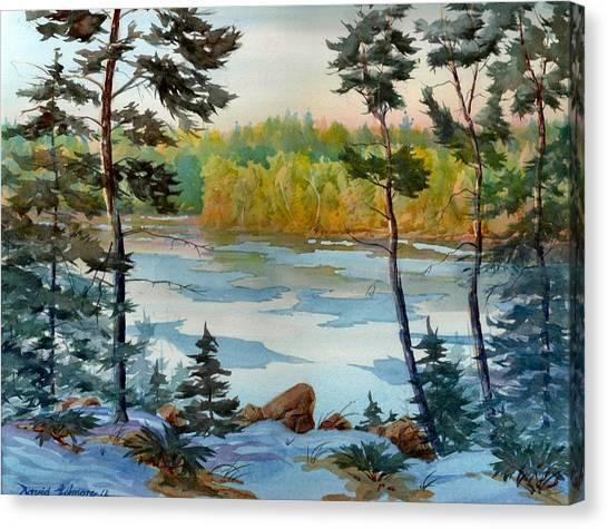 Lake Ice Before Break Up Canvas Print