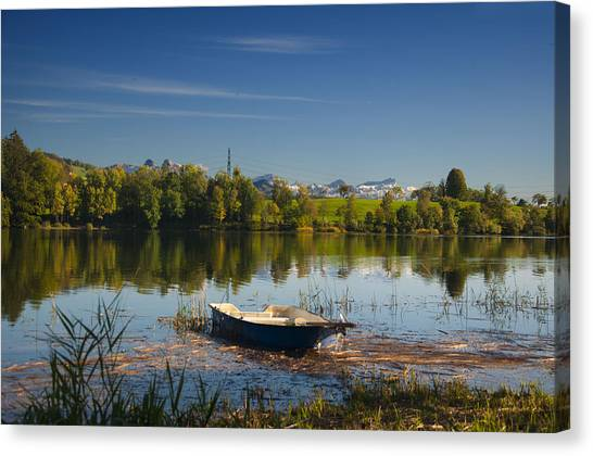 Lake In Switzerland Canvas Print