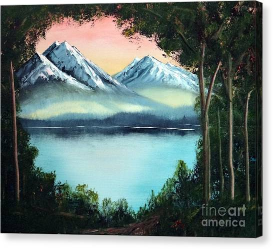 Lake In The Forest Canvas Print by Stephen Schaps
