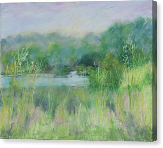 Lake Isaac Impressions Canvas Print