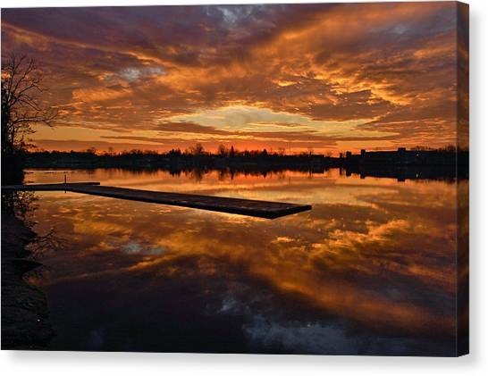Lake Lenape Sunrise1 Canvas Print