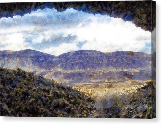 Mountain Caves Canvas Print - Lake Lenore Caves by Kaylee Mason