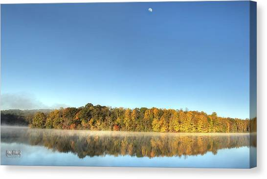 Lake Logan Fall Panorama Canvas Print