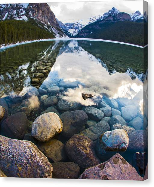 Lake Louise Canvas Print by Chris Halford