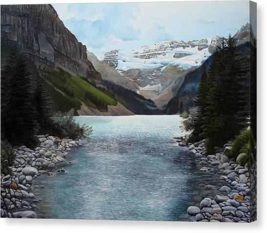 Lake Louise Canvas Print by Jennifer Hotai