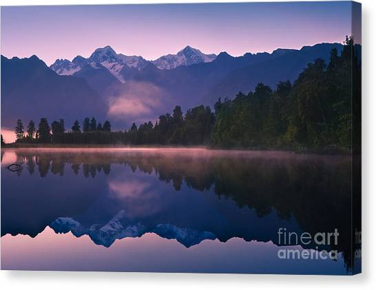 Fox Glacier Canvas Print - Lake Matheson by Henk Meijer Photography