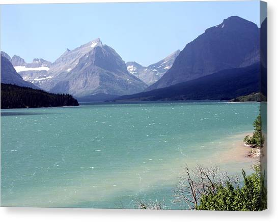 Lake Mcdonald Canvas Print by Carolyn Ardolino