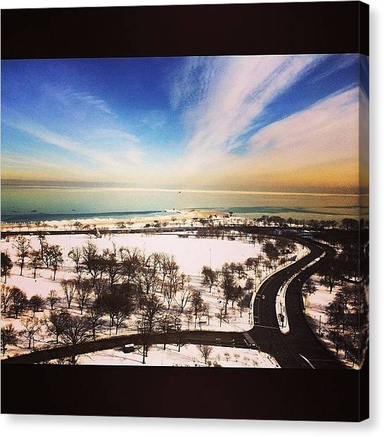 Lake Michigan Canvas Print - Lake Michigan Not The Tropical by Jennifer Gaida