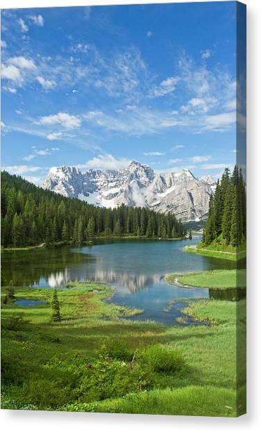 Lake Misurina Canvas Print by Bob Gibbons