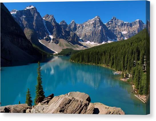 Lake Morine Blue Canvas Print