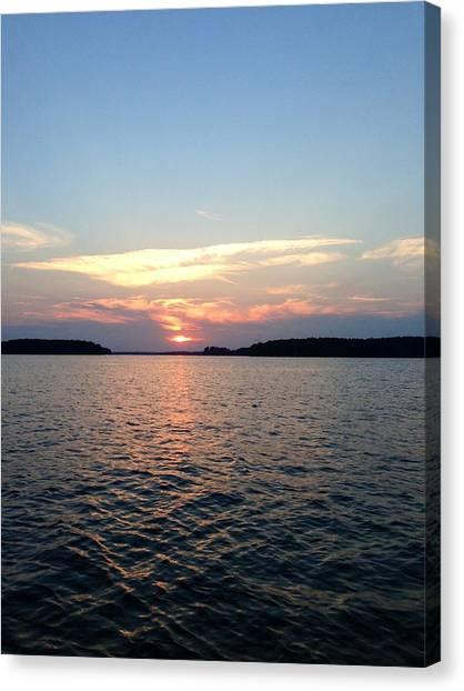 Lake Murray Sunset Canvas Print