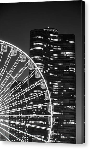 Shape Canvas Print - Lake Point Tower by Sebastian Musial