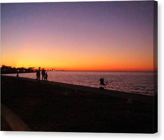 Lake Pontchartrain Sunset Canvas Print