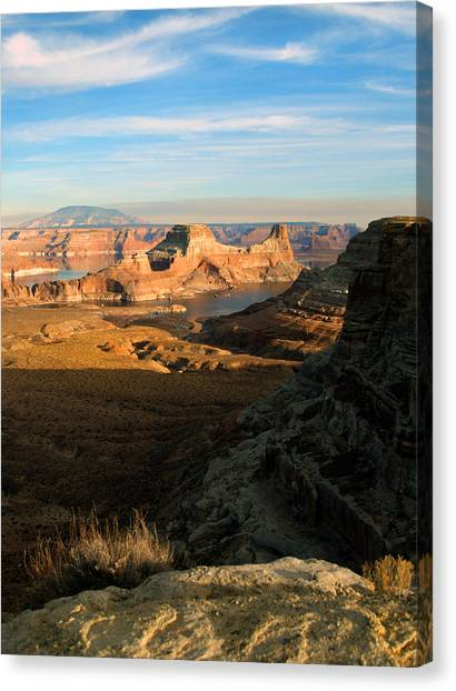 Lake Powell From Alstrum Pt 02 Canvas Print