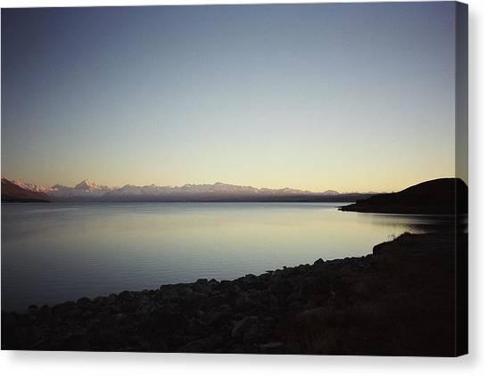 Lake Pukaki First Light Canvas Print
