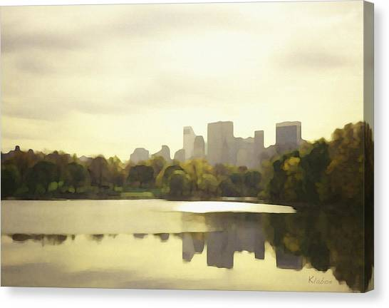 Lake Reflection Skyline 3 Canvas Print