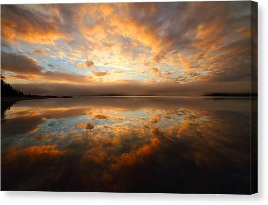 Cabot Trail Canvas Print - Lake Reflection Sunrise On The Cabot Trail by Jetson Nguyen