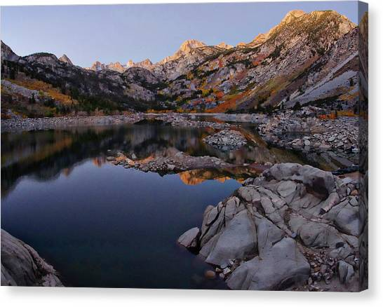 Bishops Canvas Print - Lake Sabrina Fall Colors At Sunrise by Scott McGuire