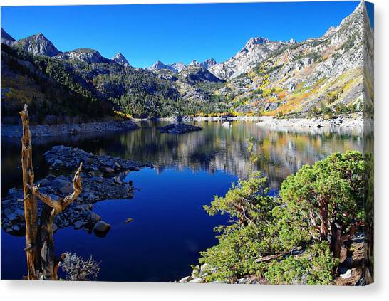 Bishops Canvas Print - Lake Sabrina Fall Morning by Scott McGuire