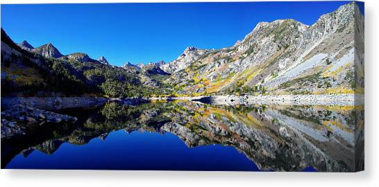 Bishops Canvas Print - Lake Sabrina Fall Reflection by Scott McGuire