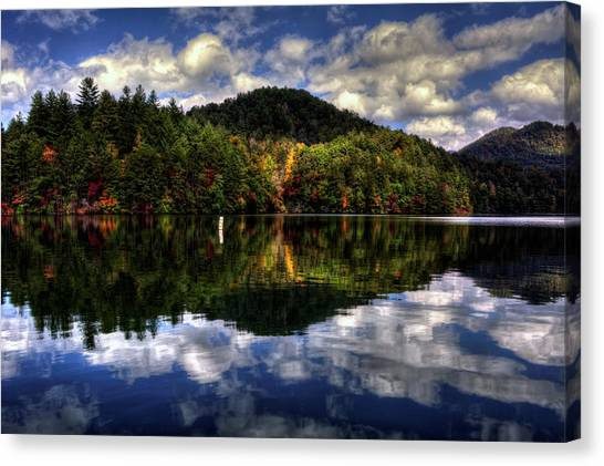 Lake Santeetlah In Fall Canvas Print