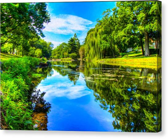 Lake Scene Canvas Print