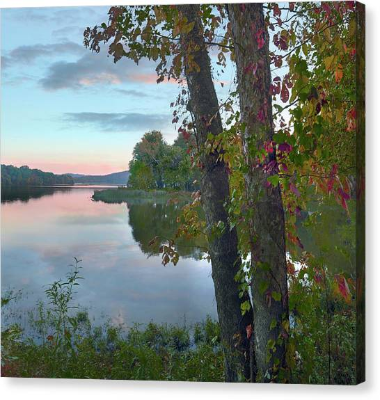 Arkansas Canvas Print - Lake Sequoya At Sunrise, Washington by Tim Fitzharris