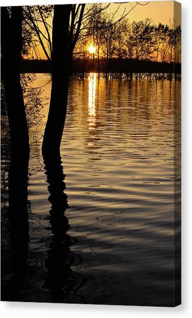 Lake Silhouettes Canvas Print
