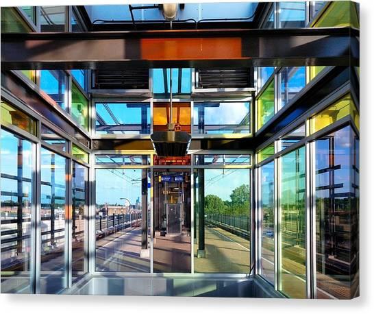 Light Rail Canvas Print - Lake Street Rail Station by Jim Hughes
