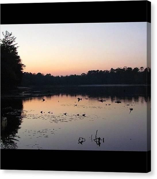 Lake Sunrises Canvas Print - Lake Sunrise by Nate Hart