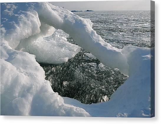 Lake Superior Ice Arch Canvas Print