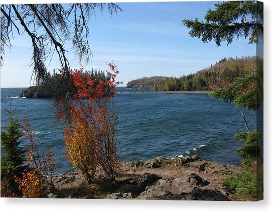 Lake Superior In The Fall Canvas Print