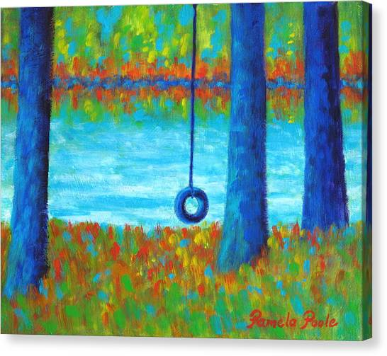 Lake Swing Tranquility Canvas Print