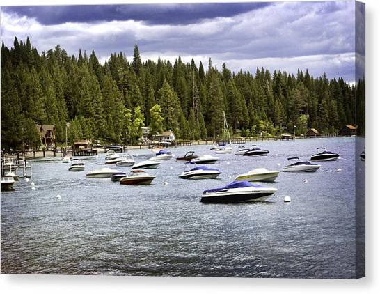 Canvas Print featuring the photograph Lake Tahoe Boats by William Havle
