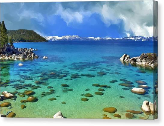 Lake Tahoe Cove Canvas Print