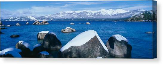 Landform Canvas Print - Lake Tahoe In Winter, California by Panoramic Images