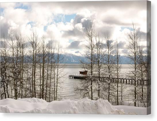 Lake Tahoe In Winter Canvas Print by Denice Breaux