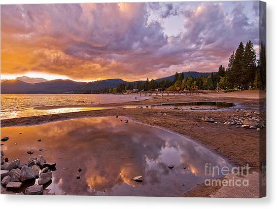 Canvas Print featuring the photograph Lake Tahoe by Mae Wertz