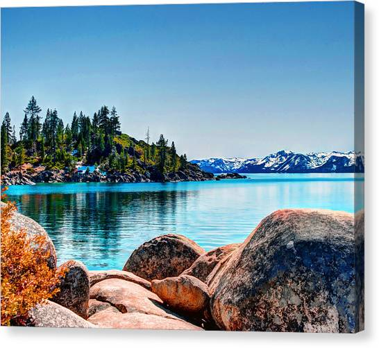 Canvas Print featuring the photograph Lake Tahoe Winter Calm by William Havle