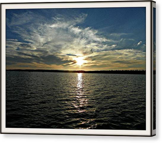 lake Tomiko Sunset Canvas Print by Dianne  Lacourciere
