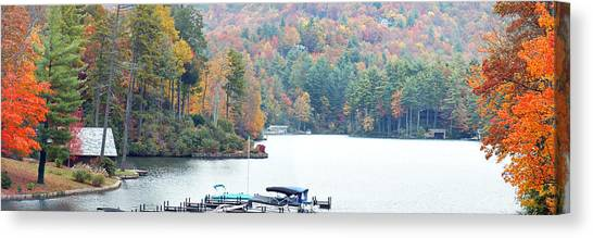Lake Toxaway In The Fall Canvas Print